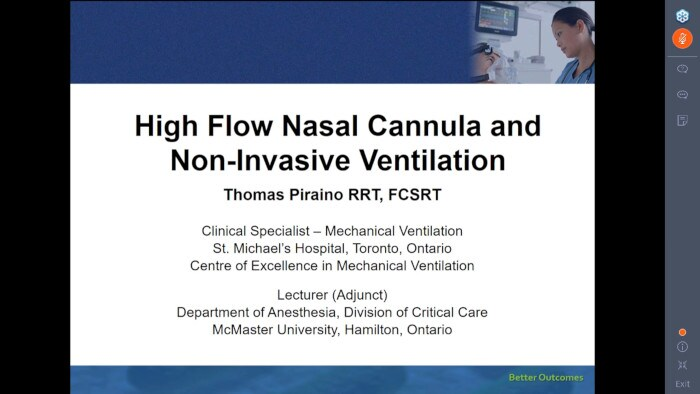High Flow Nasal Cannula and Non-Invasive Ventilation